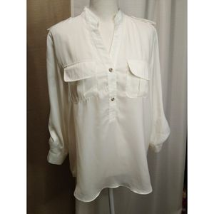 Size M Ellison Ellison Ellison white long sleeve